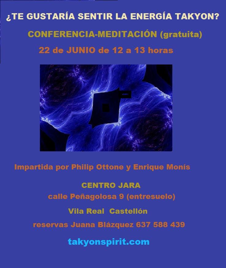 Energía Takyon Conferencia 22 junio
