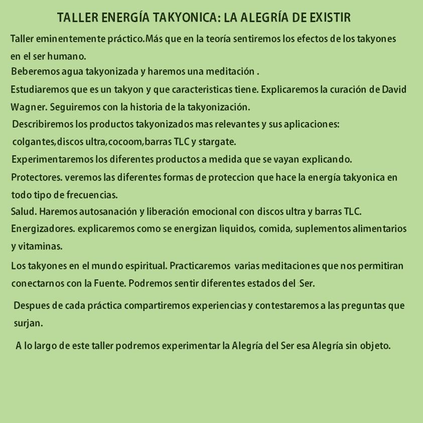 Jun 15 2019 ENERGÍA TAKYON: LA ALEGRÍA DE EXISTIR EN BARCELONA
